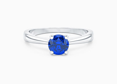 Bague Eternelle en Or Blanc 18 cts, Saphir